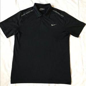 Men's Nike Dri-Fit black golf polo size L